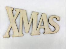"""Natúr fa - """"XMAS"""" trapéz felirat 15cm"""