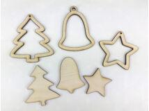 Natúr fa - Karácsonyfadísz szett 3db/csomag