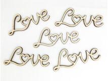 "Natúr fa - ""Love"" felirat 8cm 5db/csomag"