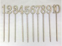 Natúr fa - Beszúrható számok 1-10-ig 26cm