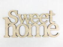 "Natúr fa - ""Sweet home"" felirat koszorúra 11,5x20cm"