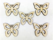 Natúr fa - Áttört szárnyú lepke 4cm 5db/csomag