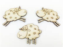 Natúr fa - Ugráló bárányok 3db/csomag