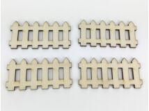 Natúr fa - Kicsi kerítés szett 4x8cm 4db/csomag