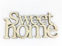 "Natúr fa - ""Sweet Home"" felirat koszorúra 7x14cm"
