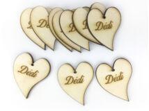 "Natúr fa - ""Dédi"" francia szív 10db/csomag"