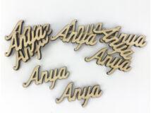 """Natúr fa - """"Anya"""" felirat 2,5x4,5cm 10db/csomag"""