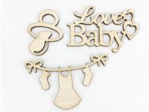 """Natúr fa - """"Love Baby"""" csomag 3db/csomag"""