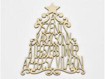 """Natúr fa - """"A szent karácsony..."""" karácsonyfa koszorúra 28cm"""