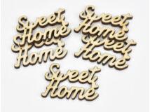 "Natúr fa - ""Sweet Home"" irott felirat 3,5x5cm 5db/csomag"