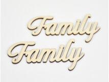 "Natúr fa - ""Family"" felirat 5,5x12cm 2db/csomag"