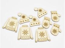 Natúr fa - Skandináv téli ruha szett 9db/csomag