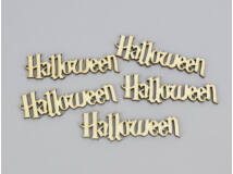 "Natúr fa - ""Halloween"" felirat 2,5x9cm 5db/csomag"