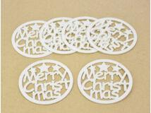 """Filc - """"Merry Christmas"""" poháralátét kerek 9cm 6db/csomag"""