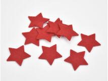 Filc - Csillag piros 5cm 10db/csomag