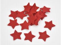Filc - Csillag piros 3cm 20db/csomag