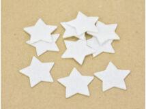 Filc - Csillag fehér 4cm 10db/csomag