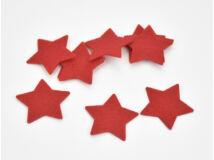 Filc - Csillag piros 4cm 10db/csomag