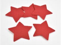 Filc - Csillag piros 10cm 5db/csomag