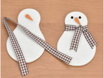 Filc - Kreatív hóember alap 2db/csomag