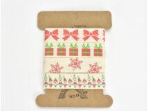 Karácsonyi textil szalag 1,5cm
