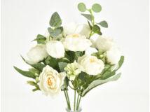 Angol rózsa csokor fehér