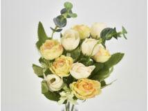 Angol rózsa csokor krémsárga