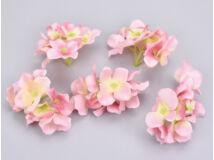 Rózsaszín hortenzia fej 5db/csomag
