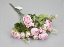 Boglárka csokor bogyóval - rózsaszín