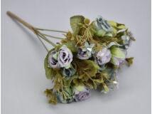 Vintage rózsacsokor - ódón kék-lila