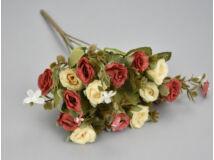 Vintage rózsacsokor - krém-korall