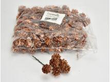 Bronz toboz csokor 6 fejes csillámos 24cs/csomag