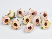 Krém-rózsaszín begónia fej nagy 10db/csomag