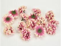Labdarózsa virágfej cirmos magenta 4cm 15db/csomag