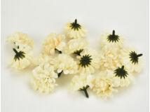 Labdarózsa virágfej krém 4cm 15db/csomag