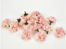 Labdarózsa virágfej rózsaszín 4cm 15db/csomag