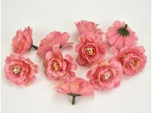 Fodros virágfej darkpink 4cm 10db/csomag