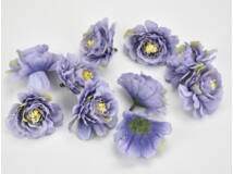 Fodros virágfej lila 4cm 10db/csomag
