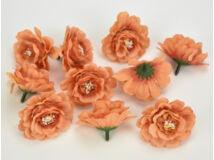 Fodros virágfej narancs 4cm 10db/csomag