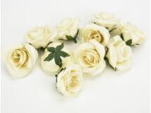 Rózsafej kicsi krém  4cm 10db/csomag