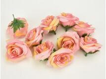 Rózsafej kicsi rózsaszín  4cm 10db/csomag