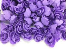 Habrózsa fej lila 3cm kb 500db/csomag