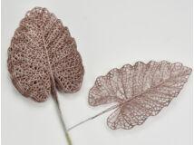 Rózsa-arany csillámos philo levél 10db/csomag