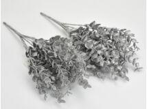 Ezüst csillámos buxus 2csokor/szett