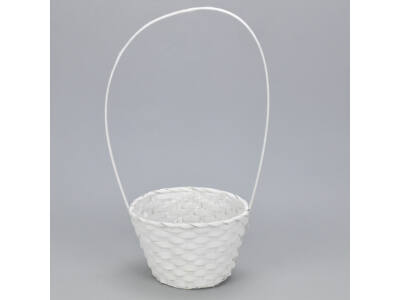 Bambusz füles kaspó fehér 19cm 120/#