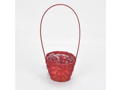 Bambusz füles kaspó piros 12cm 360/#