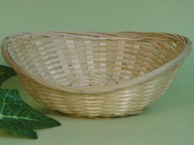 Bambusz ovál fonott tál 450/#