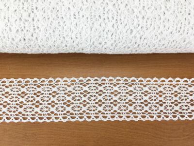 Fehér pamut csipke 91,44m