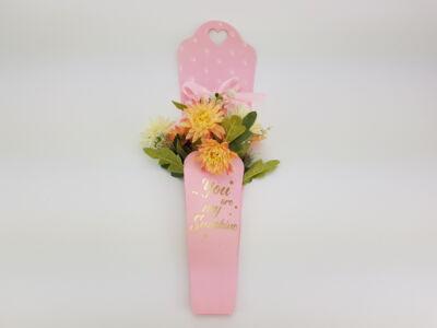 Papír virágtasak rózsaszín 10db/cs