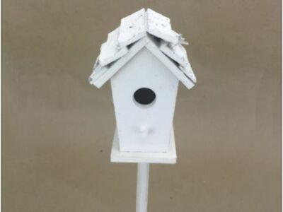 Vastag pálcás madáretető fehér 7x43cm